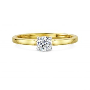 Yellow gold classic solitaire