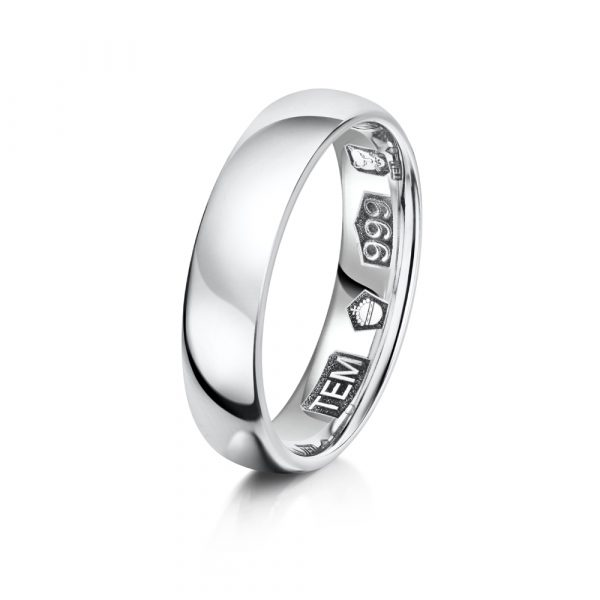 Pure range gents platinum band