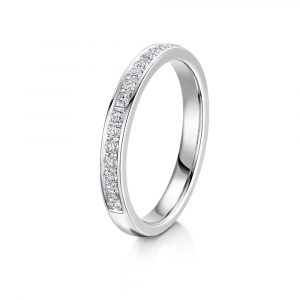 Ladies diamond bead set band