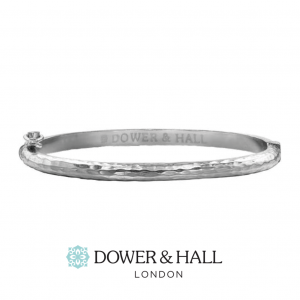 Solid Hinged Hammered Nomad Bangle
