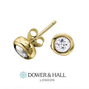 Yellow Gold Dewdrop Studs