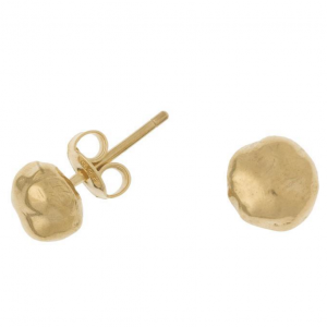 Yellow Gold Vermeil - Medium Nugget Nomad Studs