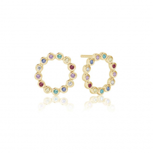 EARRINGS SARDINIEN CIRCOLO PICCOLO - 18K GOLD PLATED